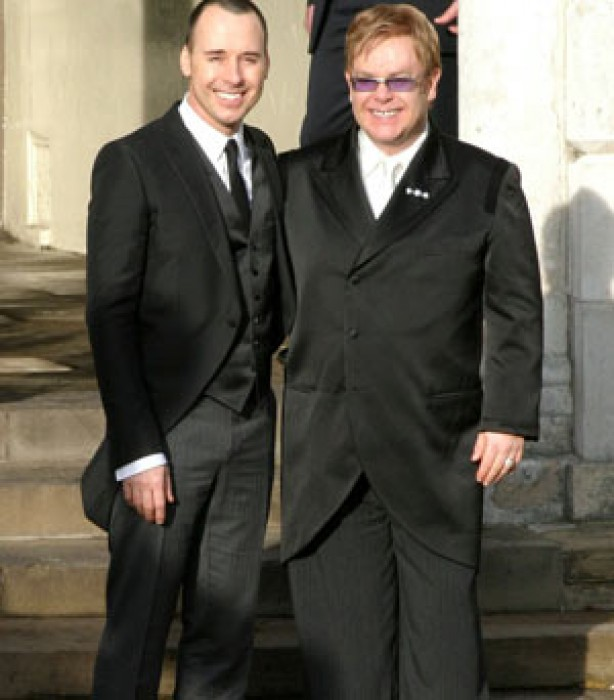 Celebrity weddings: Elton John and David Furnish