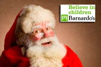 Santa and Barnardo's logo