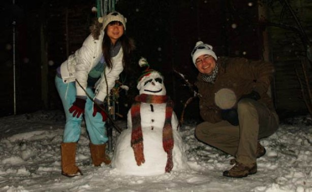 Snow pics: Our first real snow experience