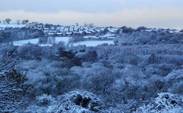 Snow pics: The view in Crawcrook