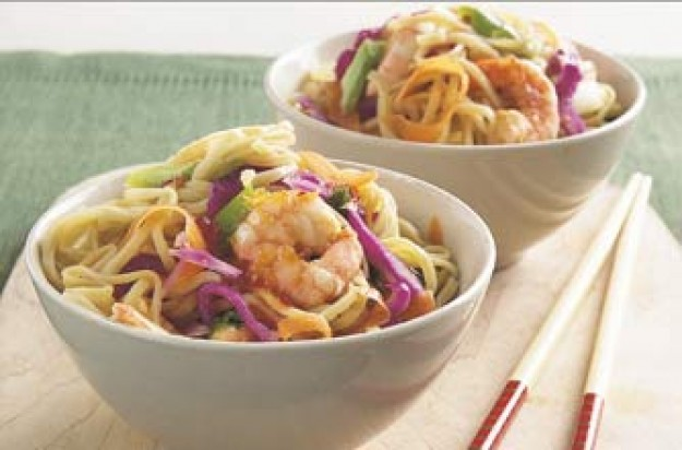 Sweet chilli and prawn stir-fry