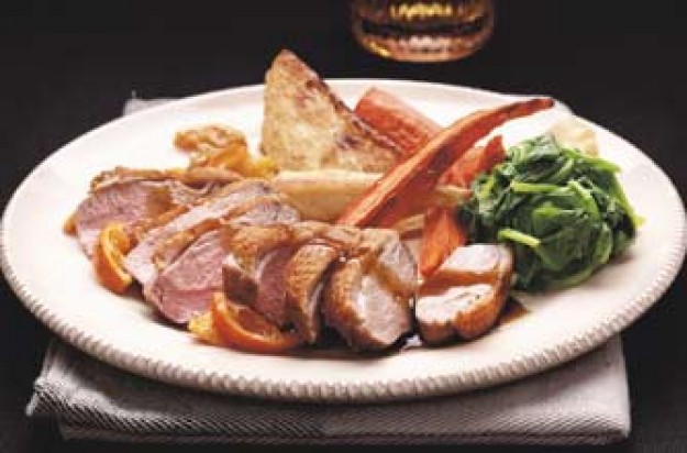 Woman's Weekly roast duck with ginger wine jus
