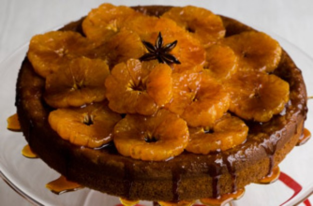 Gordon Ramsay's clementine, star anise and ricotta cake