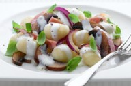 Creamy mushroom and bacon gnocchi
