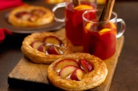 Quick plum tarts 
