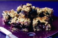 Blackberry and apple oaty flapjacks