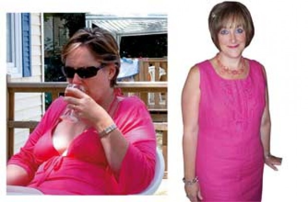 Before and after: Christine Brown