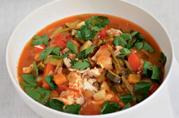 Gordon Ramsay's cod and tomato chowder