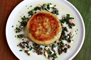 Gordon Ramsay's fish cakes with anchovy dressing