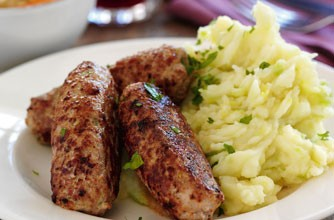 Slimming World homemade mustard sausages and colcannon ...