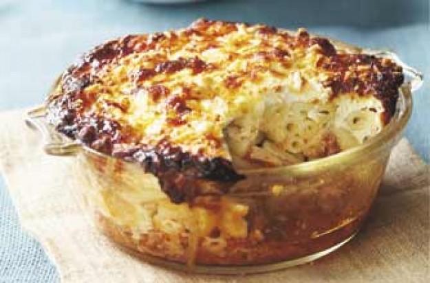 Mince-topped macaroni