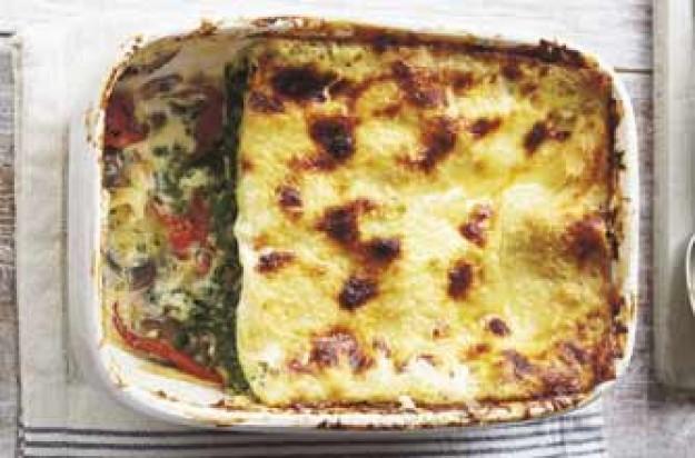 mushroom and marcarpone lasagne