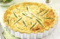 Leek and asparagus quiche