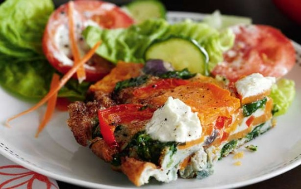 RATED Red pepper, spinach and sweet potato tortilla