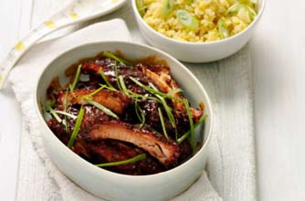 Slow-roasted chinese-style pork ribs