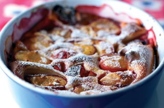 Weight Watchers plum amaretto pudding