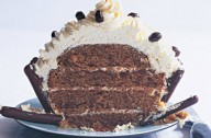 Coffee and hazelnut giant cupcake