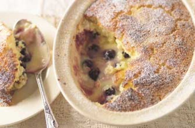 Lemon and berry pudding