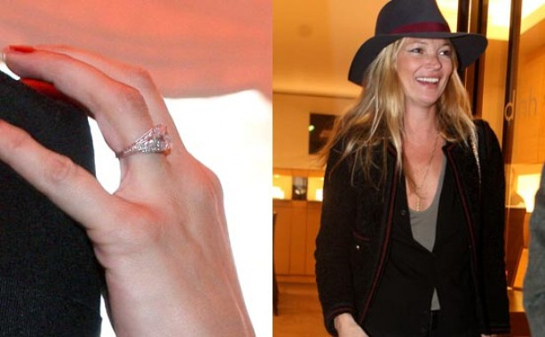 Celebrity engagement rings: Kate Moss