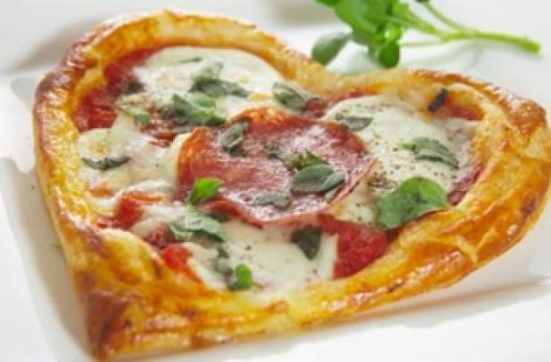 Heart-shaped food
