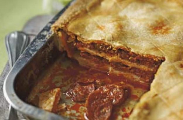 Sausage and pork pie