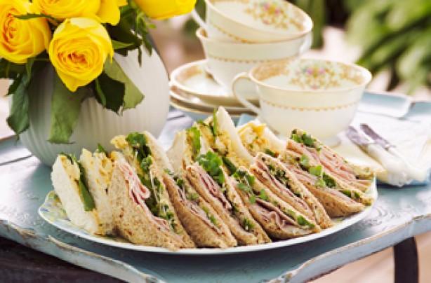 Coronation-style chicken sandwiches