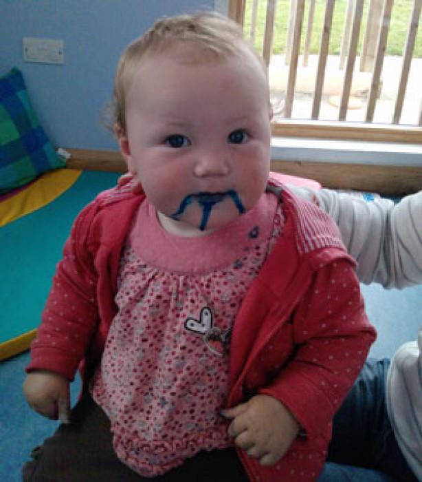 Kids up to mischief: Isabella
