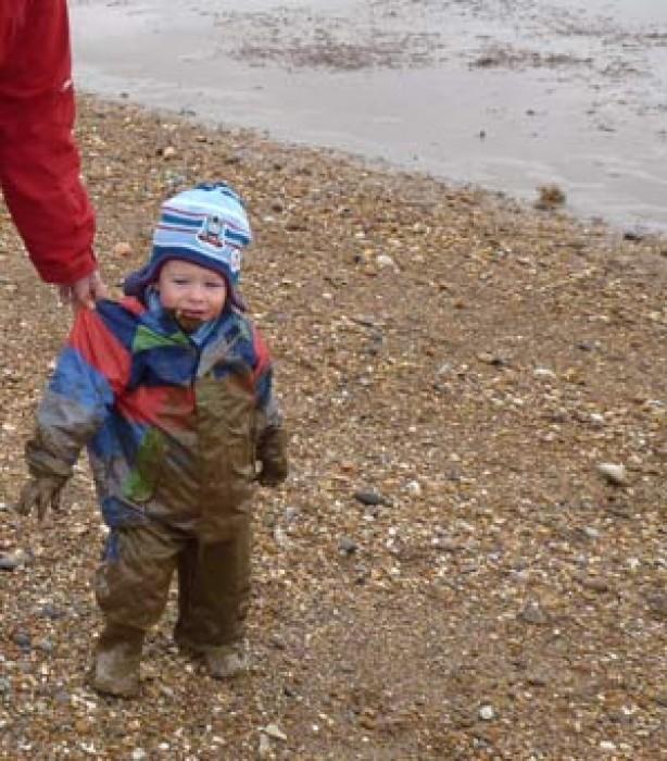Kids up to mischief: James