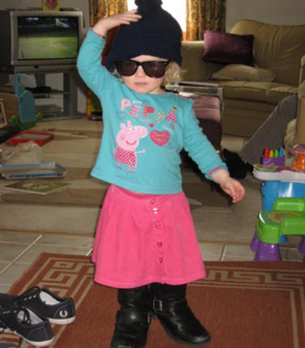 Kids up to mischief: Scarlett