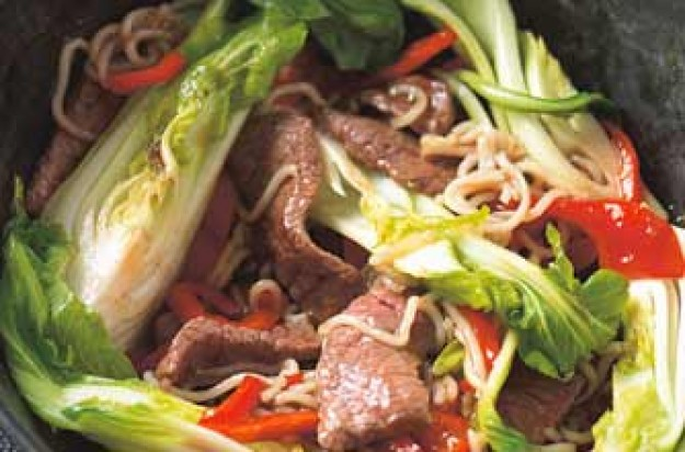 Steak and pak choi stir-fry