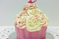Victoria Threader's giant cupcake