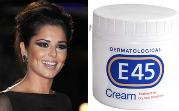 Cheryl Cole uses E45 cream to keep her skin smooth