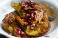 French Toast with Ruby Red Pomegranate, Honey & Cinnamon