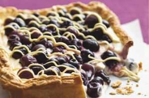 Cherry and custard tart