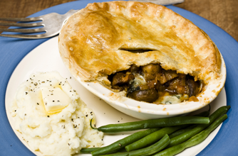 Simon Rimmer's peppered mushroom and stilton pie