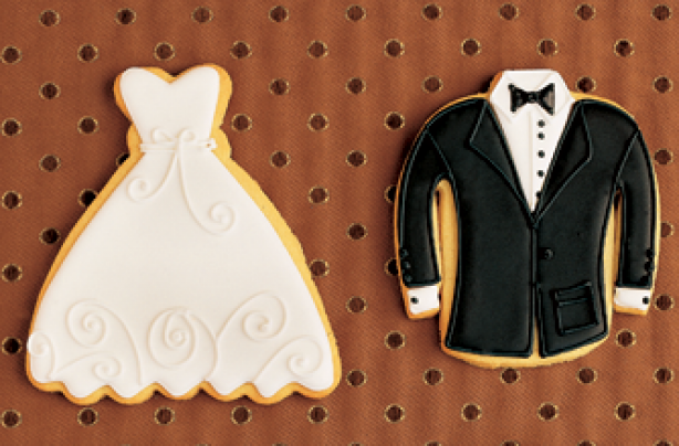 Bride and groom cookies recipes