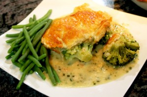 Aldo Zilli's broccoli and stilton pie