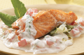 Seared salmon and greek yogurt salad