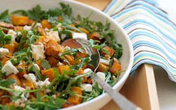 Roasted squash & goat's cheese salad