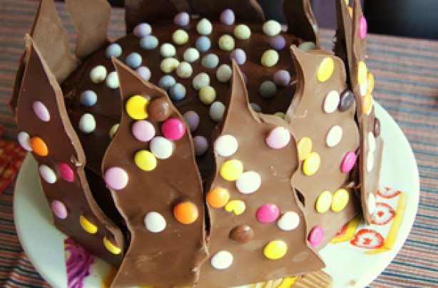 Leigh's spikey chocolate cake.