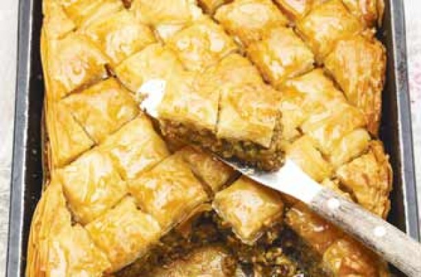 Honey and pistachio baklava