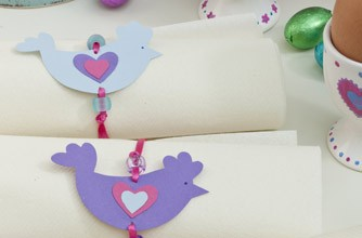 Easter chick napkins rings