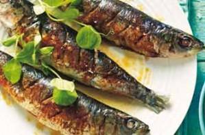 Sardine with orange and fennel salad