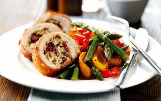 stuffed chicken, chicken, cranberry