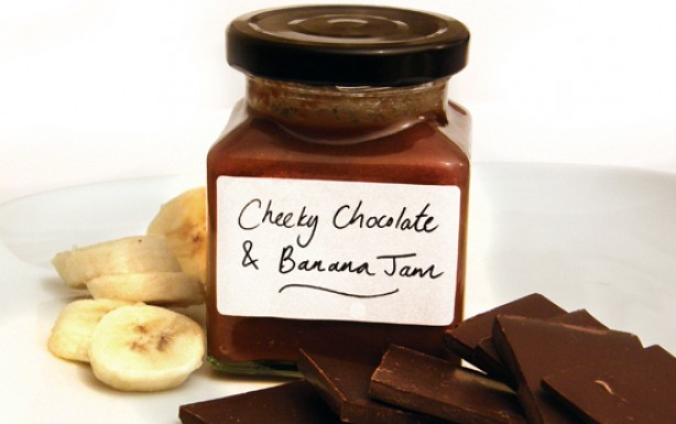 chocolate spread, banana jam, chocolate and banana