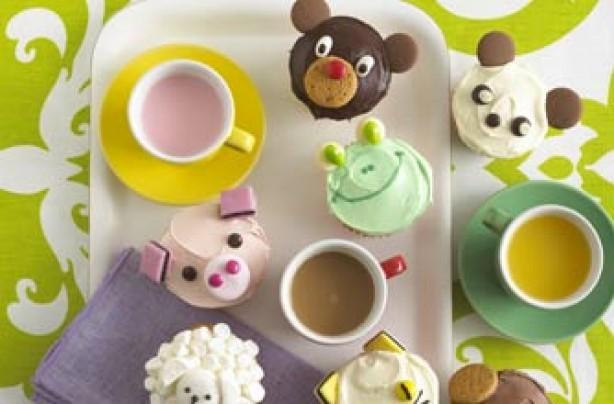 cupcakes, animals, cakes,