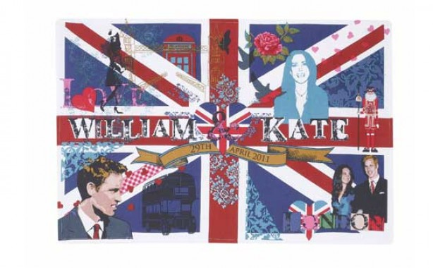 Royal Wedding tea towel