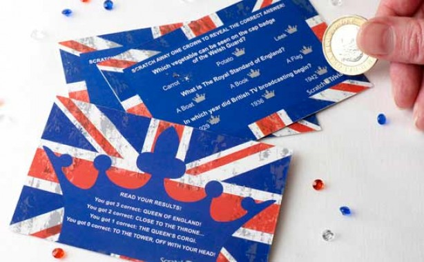Royal Wedding scratch cards