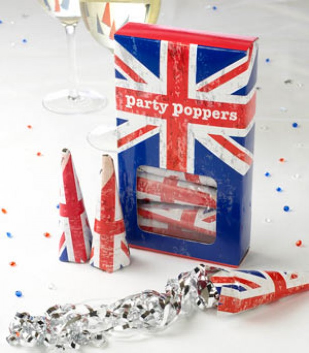 Royal Wedding party poppers