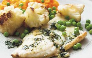 Meals under 400 calories - Sea bass with squash and stir ...